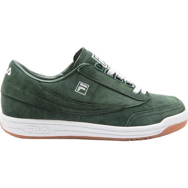 3c7662321c3385 Shop Fila Men's Original Tennis Premium Sneaker Sycamore/White/Gum - Free  Shipping Today - Overstock - 20590262