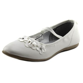Carter's Angie Youth Round Toe Synthetic White Ballet Flats