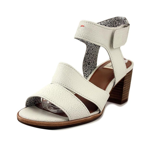 ED Ellen DeGeneres Tahni Women Open Toe Leather White Sandals