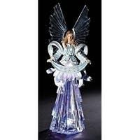 "19"" Inspirational Gifts LED Lighted Angel Decorative Christmas Table Top Figure - CLEAR"