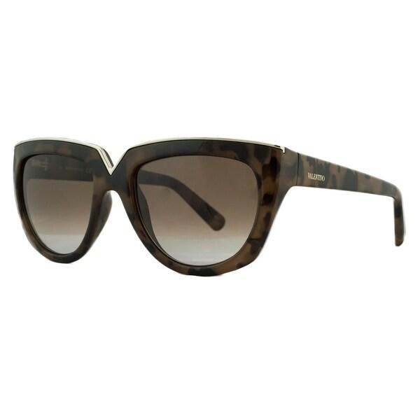 Valentino V661/S 212 Havana Poudre Fashion Sunglasses - havana poudre