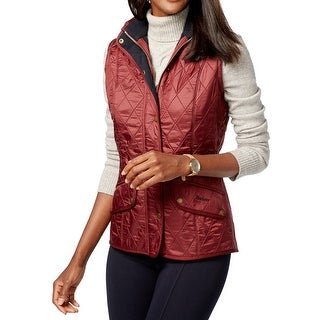Barbour NEW Red Women's Size 16 Puffer Vest Quilted Zipped Jacket