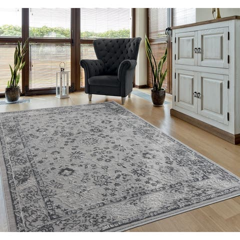 Porch & Den Reuben Distressed Oriental Area Rug