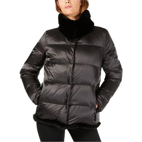 MaxMara Womens Lepanto Reversible Puffer Jacket, black, 8