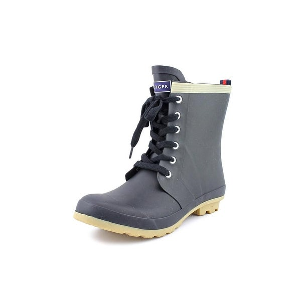 Tommy Hilfiger Renegade Women Round Toe Synthetic Black Rain Boot