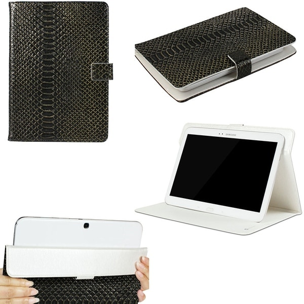 "JAVOedge Black Croc Pattern Universal Book Case for 9-10"" Tablets, iPad Air, Samsung Note, Nook HD 9, Nexus 10 + More"