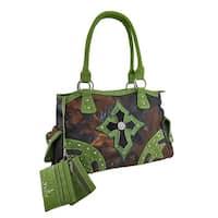 Studded Forest Camouflage Cross Concealed Carry Handbag