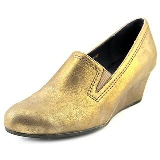 Vaneli Lara W Open Toe Leather Wedge Heel