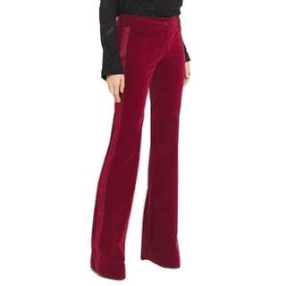 Michael Kors NEW Red Women's Size 16 Flare Velvet Tuxedo Dress Pants
