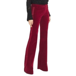 Michael Kors NEW Red Womens Size 0 Striped Flare-Leg Dress Pants
