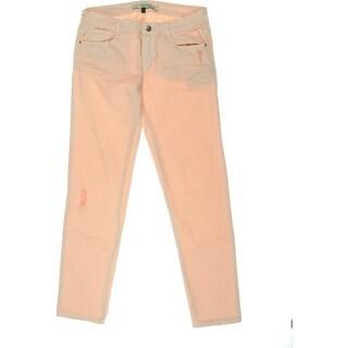 Zara Trafaluc Womens Colored Distressed Slim Jeans - 6