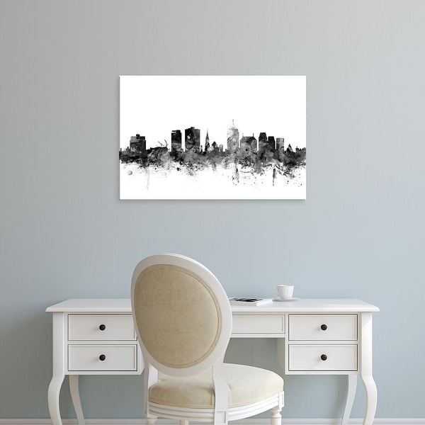Easy Art Prints Michael Tompsett's 'Christchurch New Zealand Skyline' Premium Canvas Art