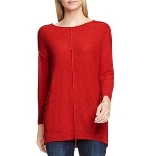 Two by Vince Camuto Womens Crewneck Sweater Crewneck Exposed Seam