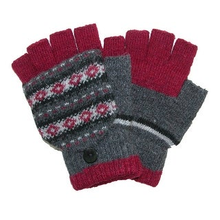 Jeanne Simmons Women's Winter Print Convertible Fingerless Mittens - One Size