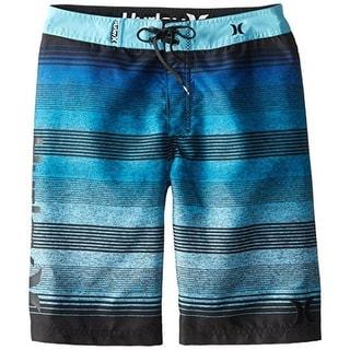 Hurley Mens Striped Colorblock Board Shorts - 10