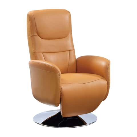New York Modern Top Grain Leather 2-Motor Powered Recliner