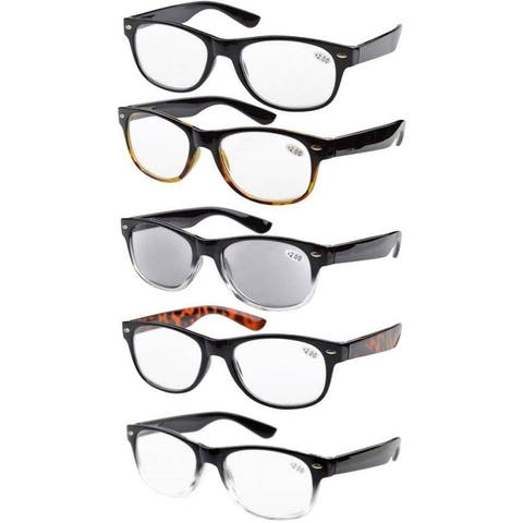 00cdbf604cac Eyekepper 5-Pack Spring Hinges Reading Glasses Includes Sun Readers