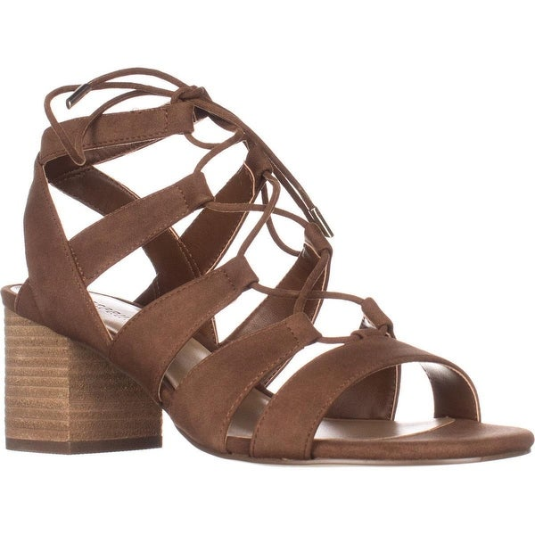 Call It Spring Ereissa Lace-Up Sandals, Cognac