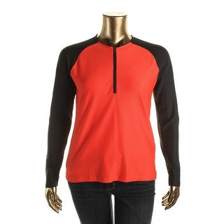 Lauren Active Womens Colorblock 1/2 Zip Shirts & Tops