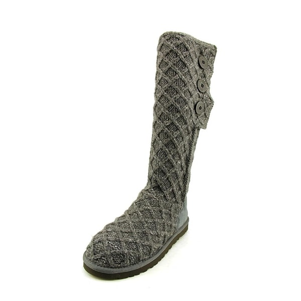 Ugg Australia Lattice Cardy Women Round Toe Canvas Winter Boot