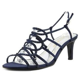 Caparros A-List Women Open Toe Canvas Blue Sandals