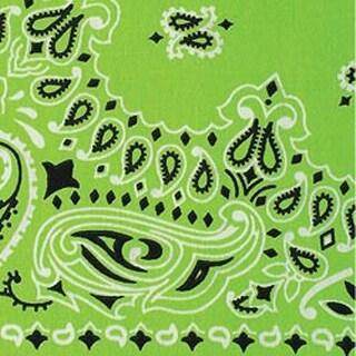 """Green Paisley - Neon Bandannas 22""""X22"""""""