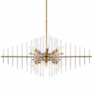 """Designers Fountain 90438 Reeve 12 Light 35"""" Wide Single Tier Sputnik Chandelier"""