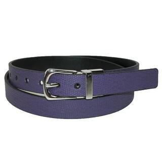 Rogers-Whitley Women's Snake Print Reversible Dress Belt
