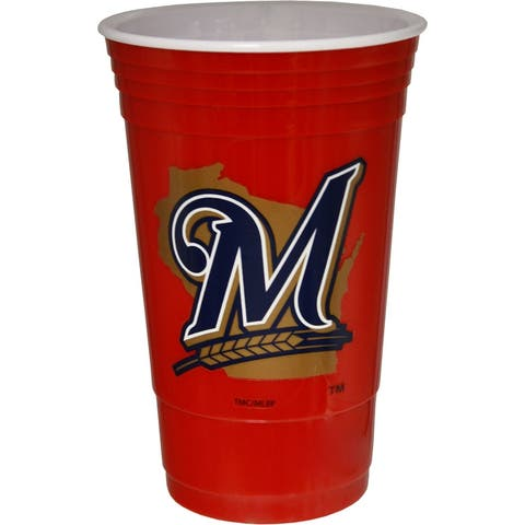 Milwaukee Brewers Red Plastic Cup