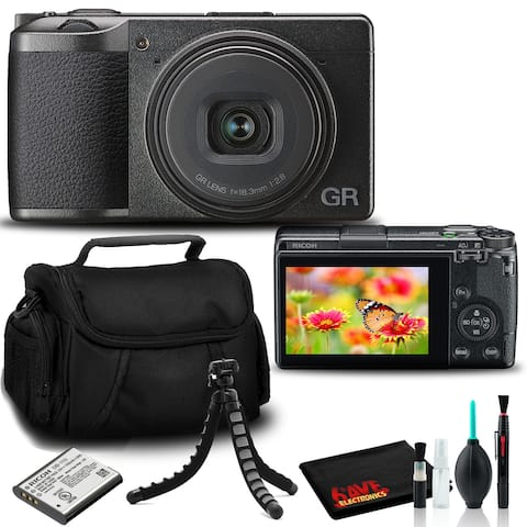Ricoh GR III Digital Camera with Cleaning Kit, Camera Bag, and