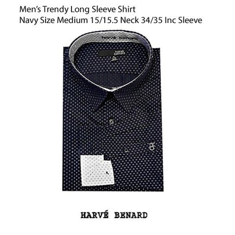 Men's Long Sleeve Shirt, 55% Cotton 45% Polyester - 15/15.5 Neck 34/35 Sleeve