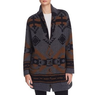 French Connection Womens Jacket Knit Button-Down