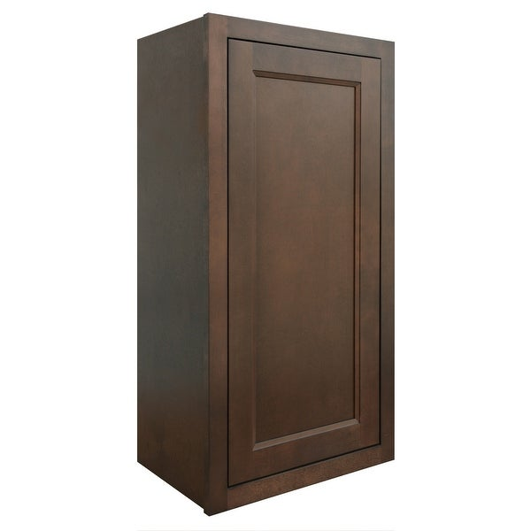 "Sunny Wood HBW1836-A Healdsburg 18"" x 36"" Single Door Wall Cabinet - Rich Walnut"