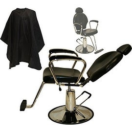 LCL Beauty Hydraulic-Lift Reclining All Purpose Barber Styling Chair