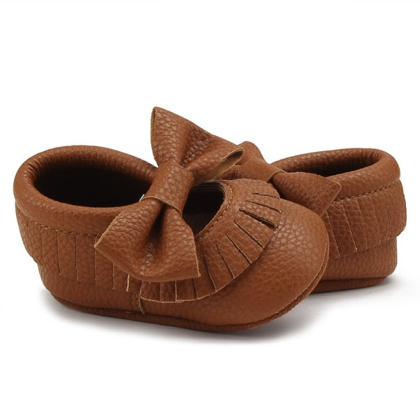 Delebao Infant Toddler Baby Soft Sole Tassel Bowknot Moccasinss Crib Shoes Overstock 31591136 Red