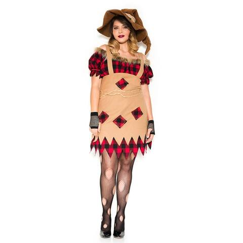 Plus Size Living Scarecrow Costume - As Shown