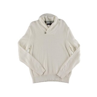 Nautica Mens Pullover Sweater Textured Shawl Neck
