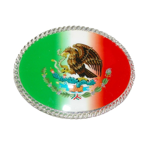 CTM® Mexican Flag Belt Buckle