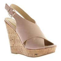 Chinese Laundry Women's Myya Wedge Sandal Vintage Rose Microsuede
