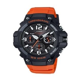 Casio Heavy Duty Design Watch with Black Silicone Band Watch