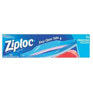 Ziploc 00389 Double Zipper Freezer Bags, Gallon, 14/Pk
