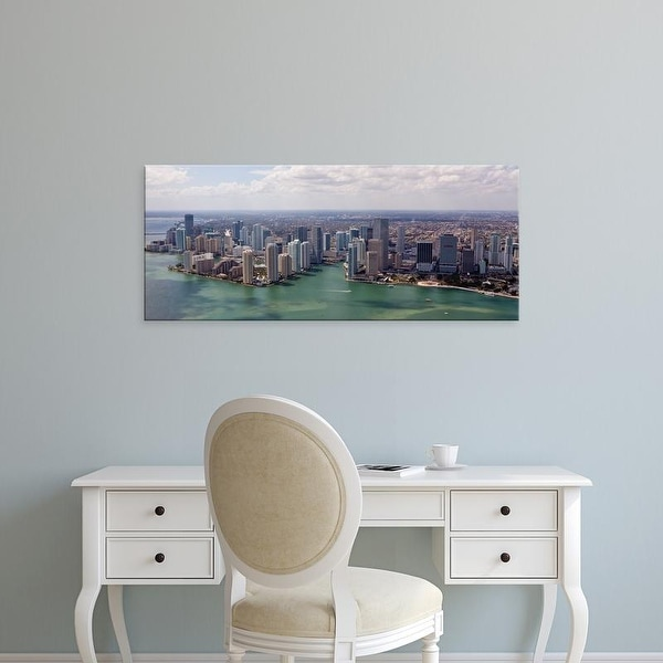 Easy Art Prints Panoramic Images's 'Aerial view of city at the waterfront, Miami, Miami