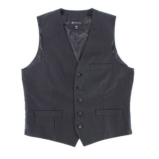 INC NEW Black Mens Size Small S 5-Button Pinstripe Waistcoat Dress Vest