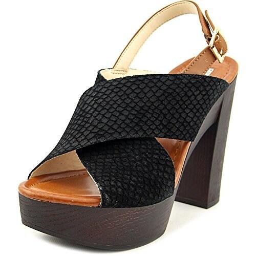 INC International Concepts Womens Cyleb Leather Open Toe SlingBack Platform P...