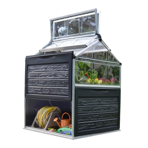 Palram Plant Inn 4ft. x 4ft. Urban Vegetable Garden Greenhouse - 4ft. x 4ft.. Opens flyout.