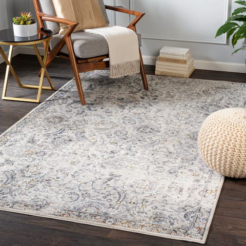 Lollie Transitional Floral Area Rug