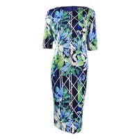Vince Camuto Women's Short Sleeve Bodycon Dress - Print