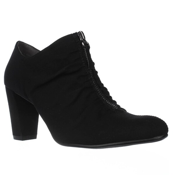 Aerosoles Fortunate Front Zip Scrunch Ankle Boots, Black