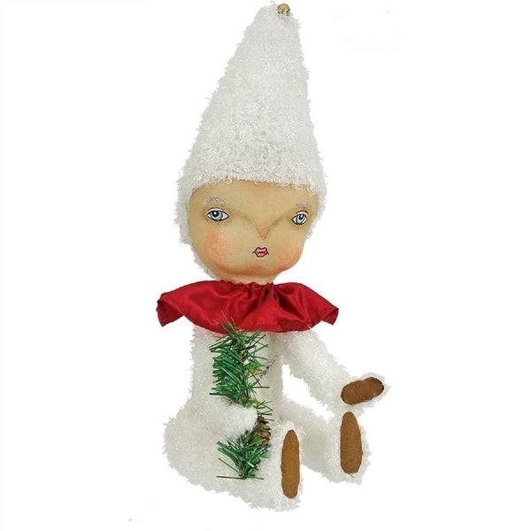 "14.5"" Gathered Traditions ""Rue"" Snow Baby Decorative Christmas Figure - WHITE"