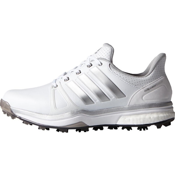 2784c90389a5 Shop Adidas Men s Adipower Boost 2 White Silver Metallic Core Black ...